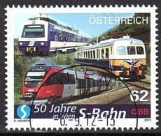 AUSTRIA ÖSTERREICH 2012 50 Jahre Wiener Schnellbahn USED / O / GESTEMPELT - 1945-.... 2. Republik