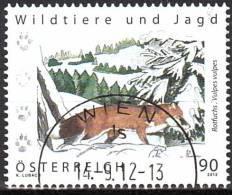 AUSTRIA ÖSTERREICH 2012 Wildtiere Und Jagd - Rotfuchs  USED / O / GESTEMPELLT - 1945-.... 2. Republik