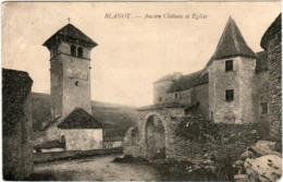 6DM 57 CPA - BLANOT - ANCIEN CHATEAU ET EGLISE - Autres Communes