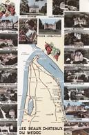 Les Beaux Châteaux Du Médoc - Vues Diverses - Carte Géographique - Vin Vignoble Vigne Cave Bordeaux - France