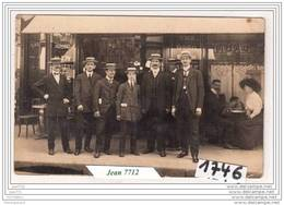 7238  AK/PC/CARTE PHOTO DEVANTURE DE CAFE/TABAC A IDENTIFIER/1913/TTB - Cartoline