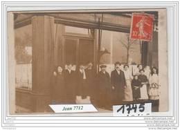 7237 AK/PC/CARTE PHOTO/1745/DEVANTURE DE CAFE A IDENTIFIER/1913/TTB - Cartoline