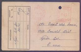 PAKISTAN Old POST CARD - 5 Paisa Meter Franking From KARACHI GPO, Used 8.3.1965 From KARACHI GAS CO. LTD - Pakistan