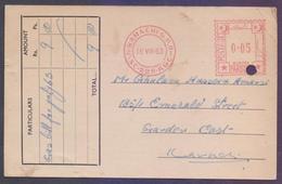 PAKISTAN Old POST CARD - 5 Paisa Meter Franking From KARACHI GPO, Used 16.8.1963 From KARACHI GAS CO. LTD - Pakistan