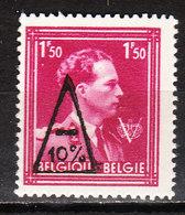 724N**  Leopold III Col Ouvert Surchargé -10% - MONT SUR MARCHIENNE - MNH** - LOOK!!!! - 1946 -10%