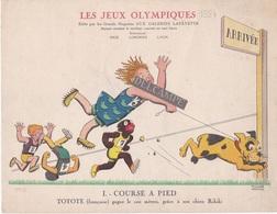 Aux Galeries Lafayette - Planche I. COURSE A PIED- Les Jeux Olympiques 1924-  Illustration Marcel Arnac - Otros