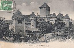 Cp , SUISSE , CHILLON , Entrée Et Pont-Levis - VD Vaud