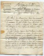 STRASBOURG LAC Du 04/07/1798 Linéaire 41x8,5 Taxée 7 Pour LUXEUIL En Tête Le Chef Des Hopitaux De La 5e Et 6e Division M - Marcophilie (Lettres)