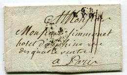 LYON LAC Du 14/12/1792 Linéaire 20,5x8 Taxée 11 Pour PARIS - Postmark Collection (Covers)