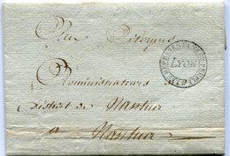 """LYON LAC En Franchise Du 07/02/1795 Avec Cachet """"les Représentants Du Peuple LYON"""" Signée RICHAUD ( 3 Scans) - Marcophilie (Lettres)"""