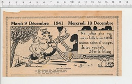 2 Scans Presse 1941 Humour Numismatique Publicité Anciens Billets De Cent Francs Jonas Baleine 223XT - Non Classés