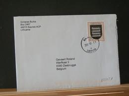 82/034  LETTRE LITUANIA POUR LA BELG. - Lithuania