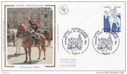L4K230 FRANCE 1980  FDC Garde Républicaine  1,70f  Paris  22 11 1980/env.  Illust. - Militaria