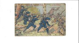 Z  GUERRE 1914 15  NOS DIABLES BLEUS    AU COL STE MARIE    ****    A   SAISIR **** - War 1914-18