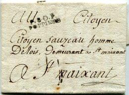 VIENNE De POITIERS LAC Du 03/12/1797 Linéaire De Port Payé 26x8+ Verso Taxe De 5 Pour ST MAIXENT - Marcophilie (Lettres)