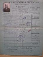 LES RANDONNEURS FRANÇAIS- Randonnée De 200 Km A BICYCLETTE-Feuille De Contrôle Mr DERVIN Lucien 19 Avril 1931 - Cyclisme