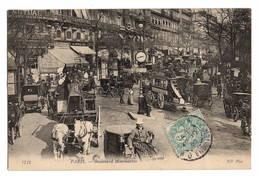 75 PARIS - 2ème Ou 9ème, Boulevard Montmartre, Bel Instantané De Rue - Ohne Zuordnung