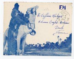 ALGERIE ENV 1956 SIGUS CONSTANTINE FM / ENV ILLUSTREE RECETTE DISTRIBUTION INDICE 5 COTE 22 - Algérie (1924-1962)