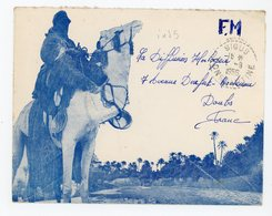 ALGERIE ENV 1956 SIGUS CONSTANTINE FM / ENV ILLUSTREE RECETTE DISTRIBUTION INDICE 5 COTE 22 - Algeria (1924-1962)