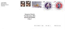 LETTERA DA CANADA X ITALIA CON FRANCOBOLLI HOCHEY - Hockey (su Ghiaccio)