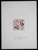 Mauritanie T36/7 Epreuve D'artiste Signé Multicolore.Mauritania Artist Signed Die Proof. Bird, Oiseaux, Fauna - Moineaux