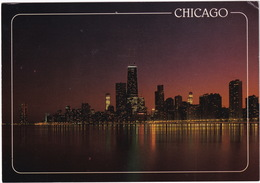 Chicago - Skyline, Night - (USA) - Chicago