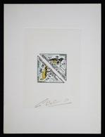 Mauritanie T38/9 Epreuve D'artiste Signé Multicolore.Mauritania Artist Signed Die Proof. Bird, Oiseaux, Fauna - Moineaux
