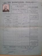 LES RANDONNEURS FRANÇAIS- Randonnée De 200 Km A BICYCLETTE-Feuille De Contrôle Mr DERVIN Lucien 15 Août  1931 - Cyclisme