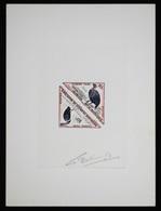 Mauritanie T42/3 Epreuve D'artiste Signè Multicolore.Mauritania Artist Signed Die Proof. Bird, Oiseaux, Fauna - Moineaux