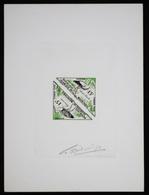 Mauritanie T44/5 Epreuve D'artiste Signé Multicolore.Mauritania Artist Signed Die Proof. Bird, Oiseaux, Fauna - Moineaux