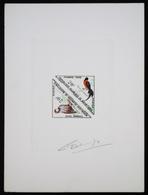 Mauritanie T46/7 Epreuve D'artiste Signé Multicolore.Mauritania Artist Signed Die Proof. Bird, Oiseaux, Fauna - Moineaux