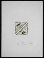 Mauritanie T48/9 Epreuve D'artiste Signé Multicolore.Mauritania Artist Signed Die Proof. Bird, Oiseaux, Fauna - Moineaux