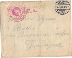 LETTRE DE PRISONNIER  DE LIMBURG  ..A ROCHE EN DORDOGNE.  BE. SCAN - Guerra De 1914-18
