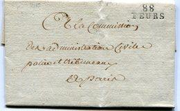 LOIRE De FEURS LAC En Franchise De L'accusateur Public Du 25/06/1795 Linéaire 24x9 - Marcophilie (Lettres)