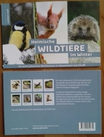 AUSTRIA, 2018,MNH, PERSONALIZED BKLT, LOAL WILDLIFE IN WINTER, BIRDS, INSECTS, BEES, SQUIRRELS,HEDGEHOGS, FOXES, LIZARDS - Honeybees