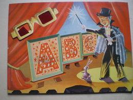 ABC Livre Pour Enfant En 3 Dimensions Avec Lunettes -Printed In The Netherlands N° 1960- Mulder&Zoon-AMSTERDAM - Bücher, Zeitschriften, Comics