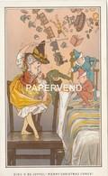 Christmas  Card  E.H.Fahey Sing O Be Joyfull Merry  Christmas Comes Egc193 - Old Paper