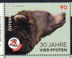 AUSTRIA, 2018, MNH,FAUNA, BEARS, 1v - Bears