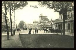 NAMUR - La Gare - (animée Avec Tramways) - Namur