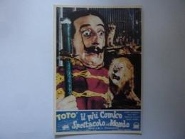 """Cartolina  """"TOTO' IL PIU' COMICO SPETTACOLO DEL MONDO"""" - Manifesti Su Carta"""