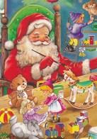 Santa Claus Is Painting Toys At Korvatunturi - At Santa's Place - Teddy Bears - Dolls - Santa Claus