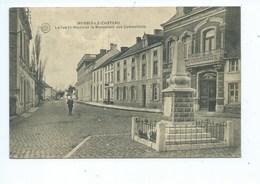 Merbes-le-Château La Rue St-Martin Et Le Monument Des Combattants - Merbes-le-Château