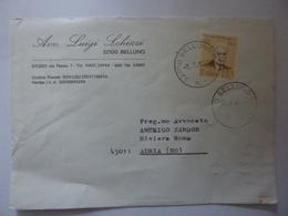 """Busta Viaggiata """"Avv. LUIGI  SCHIZZI Belluno"""" 1976 - 6. 1946-.. Repubblica"""