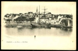 PORNIC (Loire-Atlantique) - 8 : Le Port - (plan Animé) - CP Précurseur, Vers 1900, Dos Non Divisé. - Pornic