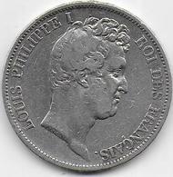 5 Fr  Louis Philippe I - 1830 A - Tranche En Relief - France