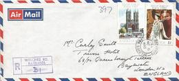 Barbados 1978 Welches Road Queen Elisabeth II Royal Visit Jubilee Unperforated Registered Cover - Barbados (1966-...)