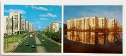 #18  Lenin Boulevard, New Residential Area - Saint Petersburg, RUSSIA - Postcard 1987 - Russie