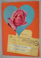 Fiori Telegramma D'amore Cartolina  Viaggiata - Flowers