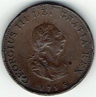 United Kingdom, 1799, One Farthing. - 1662-1816 : Oude Muntslagen Einde XVII° Eeuw - Begin XIX°