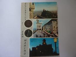 """Cartolina Viaggiata """"SALUTI DA SAN MARINO"""" 1965 - San Marino"""